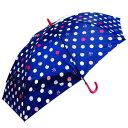 荷物が濡れにくいスライド設計UMBRELLA キッズ用長傘 ラブドット SL-2041  【abt-1559346】【APIs】