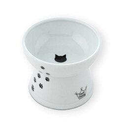 (まとめ)猫壱ハッピーダイニング 脚付フードボウルL 猫柄 シリコン付き(ペット用品)【×20セット】