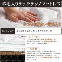 3段階高さ調節ベッドモルガンセミダブルデュラテクノスプリングマットレスセット