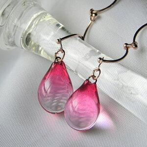 ネックレス レディース ガラスネックレス 女性デザイナーが作る柔らかなガラスラリエット♪しず...