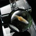 【メンズアクセ】土星&地球ガラスネックレス 宇宙ネックレス!1点物ガラスネックレス♪ 宇宙 ...