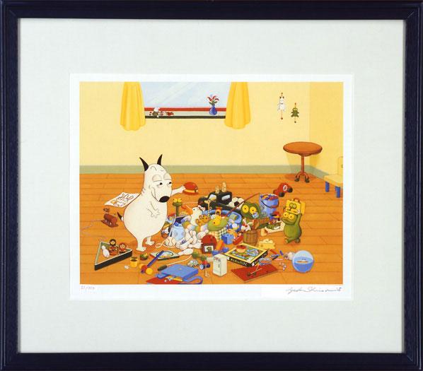 [バムとケロ]複製版画おもちゃでいっぱい (バムケロ):ゆめたまご