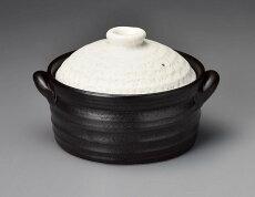 【送料無料】IHで炊飯グルメ黒釉メタルIH2合炊きご飯釜11-17735