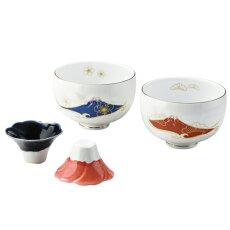 WanoBiFuji組多用碗(化粧箱入り)04678陶碗・猪口ペアセット