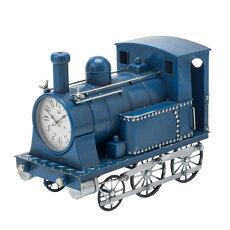 【送料無料】機関車クロック(ブルー)31255