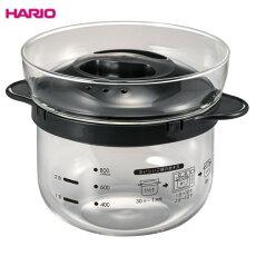 HARIO(ハリオ)ガラスのレンジご飯釜1〜2合XRCN-2-B