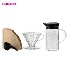 HARIO(ハリオ)V60ドリッパー&サーモカラーサーバーセットVDSS-3012-B