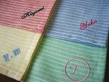 ラミーのハンカチーフイニシャル ハンカチ 名入れ リネン ギフト 刺繍 包装 のし 内祝 御礼 父の日 母の日 メンズ レディース 卒業 記念品 餞別