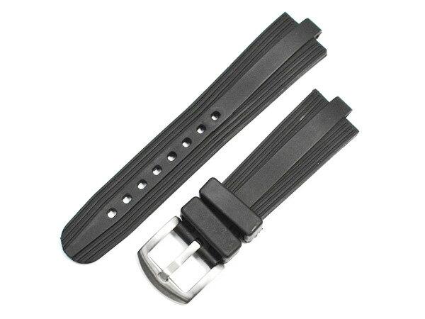 「ブルガリ(BVLGARI)向け」輸入王オリジナル ディアゴノ スポーツ CH35用 ベルト ラバー ブラック 22/18mm 社外品 メンズ 腕時計用