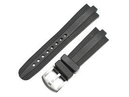 「ブルガリ(BVLGARI)向け」輸入王オリジナルアルミニウムAL38用ベルトラバーブラック22/18mm社外品メンズ腕時計用