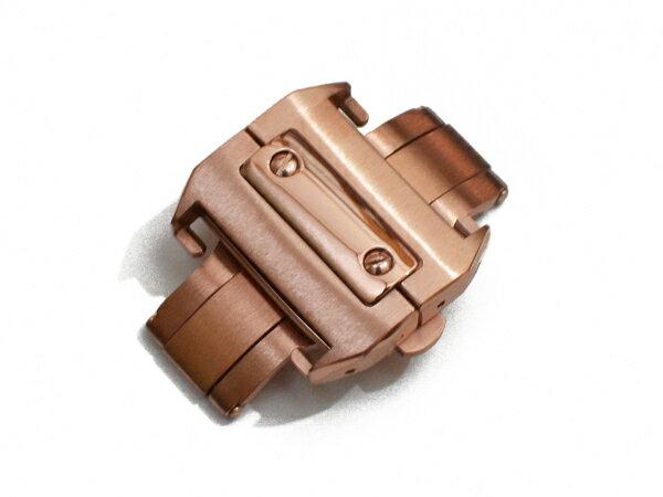 「カルティエ(Cartier)向け」輸入王オリジナル サントス100用 バックル SS/PG 社外品 メンズ レディース 腕時計 ベルト用