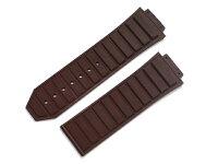 「ウブロ(Hublot)向け」輸入王オリジナルキングパワー48mmケース用ラバーベルトブラックメンズ腕時計用社外品