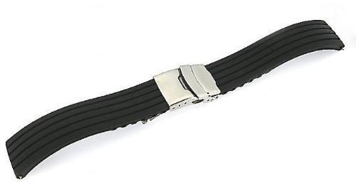 「ハミルトン(HAMILTON)向け」 輸入王オリジナル ラバーベルト オリジナルパターン1 社外品 20/18mm メンズ 腕時計用