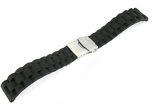 「ハミルトン(HAMILTON)向け」 輸入王オリジナル ラバーベルト オリジナルパターン2 社外品 20/18mm メンズ 腕時計用