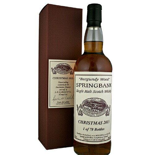 スコッチ・ウイスキー, モルト・ウイスキー  2013 Springbank Christmas 2013 700ml (70122) Whisky(80-0)