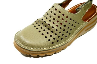 サンダルバックバンドサボパンチングブーツ本革痛くない靴疲れない靴黒本革レディース靴パンチングショートぺたんこ送料無料