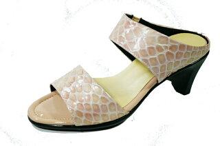ミュールレディースyuriko黒レディースシューズヒール革ミュール/痛くない靴疲れない靴ミュールサンダル