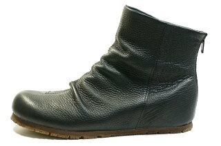 ショートブーツ外反母趾高級感痛くない靴疲れない靴黒本革レディース靴ショートぺたんこyurikomatsumoto