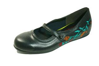 フラットインヒール本革ぺたんこ靴刺繍痛くない靴疲れない靴代引き手数料込送料無料皮