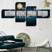 『モダンアートパネル』絵画手書き絵油彩画油絵壁掛け油絵油彩画SHOPART『4パネルSET1548夜桜』