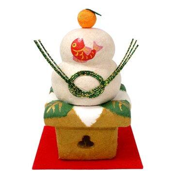 ちぎり和紙 鏡餅(小)【リュウコドウ】【陶器】【国産・日本製】【正月飾り】【迎春】