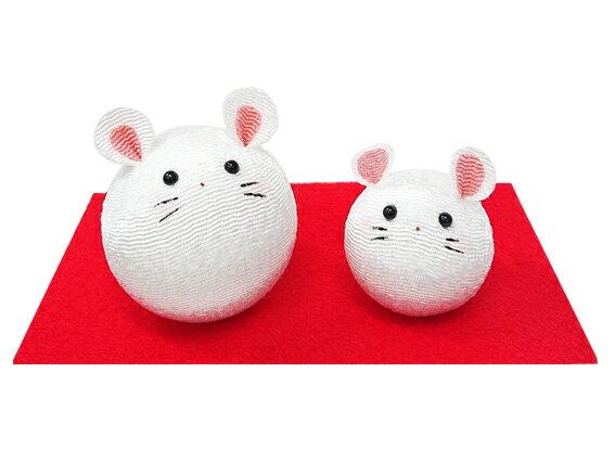 起き上がりねずみ親子【R-15】【リュウコドウ】【国産・日本製】【干支 置物】【子・ねずみ・ネズミ】画像