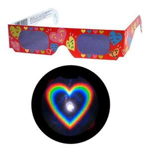 魔法のメガネをかけると……ハートマークいっぱいの愛あふれた世界!不思議メガネハートマーク...