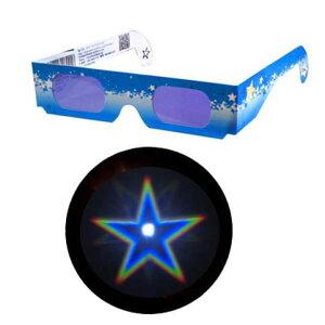 魔法のメガネをのぞくと……そこは星空!!!不思議メガネ星マーク 1個【楽天市場 最安値に挑...