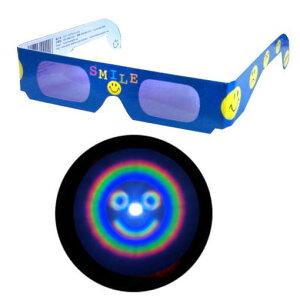魔法のメガネをかけると……にっこりマークがいっぱい!不思議メガネにっこりマーク1個【楽天市...
