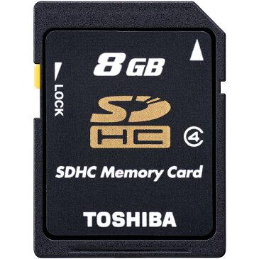 東芝 SDHCメモリーカード 8GB SD-L008G4 Class4 [ クラス4 SDカード SDHCカード SDHCメモリカード TOSHIBA ]※取寄せ品【RCP】