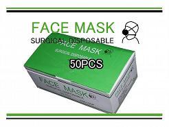 【24時間限定クーポン進呈中】3層式サージカルマスク 50枚組 090 ウィルス対策の使い捨てマスク
