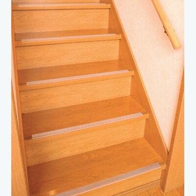 【ランキング1位獲得】透明階段滑り止め 14本入り カーペット マット 畳 ラグ階段の安全対策に! 803313 安全 階段マット ノンスリップ テープ 803313