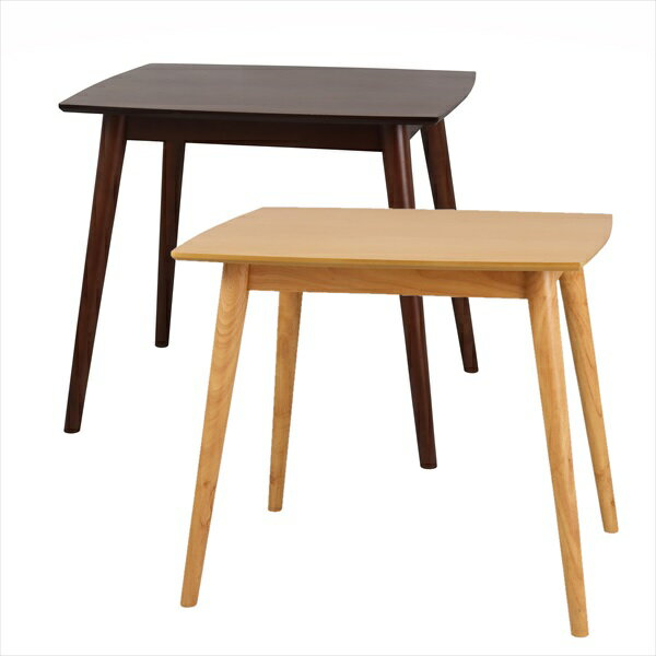 ユーリダイニングテーブル80R テーブル ダイニングテーブル5089 7293 天然木 カーブ ナチュラル ブラウン 新生活 シンプル 小さめ テレワーク リモートワーク ステイホーム 在宅