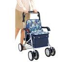 座れるアルミ製シルバーカー 介護用品 移動・歩行支援用品 カート・シルバーカーFL-1502 シルバーカー ショッピングカー 座れる 介助 介護 シルバー器具 シルバー 歩行補助 カート