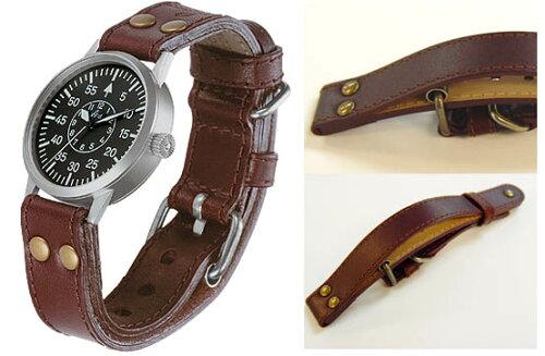 Laco ラコ 腕時計 バンド ベルト オーバージャケット レザーストラップ 20mm