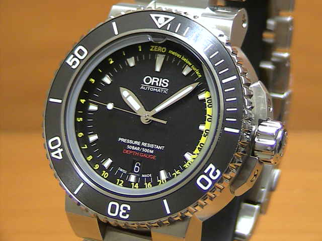 腕時計, メンズ腕時計  ORIS Aquis Depth Gauge 73376754154M