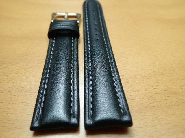18mm 20mm 時計バンド (腕時計) ベルト カーフ 牛革 黒 (ブラック) バネ棒 サービス 腕時計用 時計ベルト 時計用バンド 525円で販売していますバネ棒をサービスでお付けします