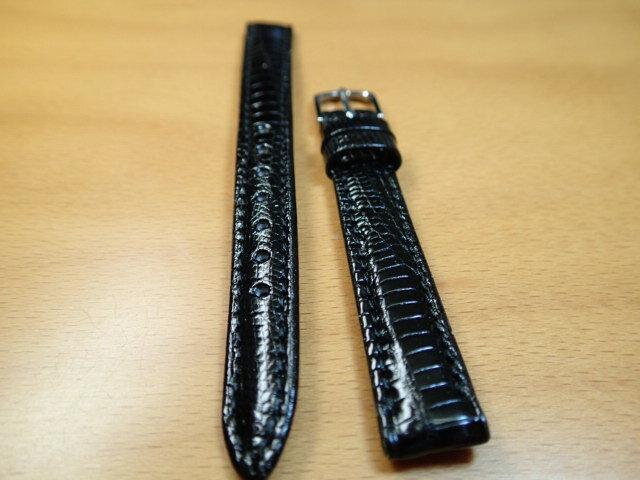 11mm ~ 14mm 時計バンド (腕時計) ベルト トカゲ (ヤクルス) 黒 (ブラック) バネ棒 サービス 腕時計用 時計ベルト 時計用バンド 525円で販売していますバネ棒をサービスでお付けします