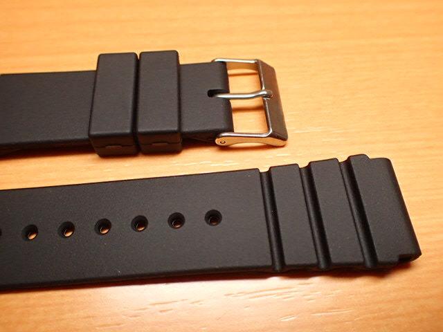 20mm 時計バンド(腕時計)ベルト20ミリ 時計ベルト・バンド バネ棒 サービス付き 20mm 防水ウレタンラバーベルト 黒色 腕時計用