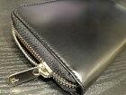 松阪牛革を使用さとりラウンドファスナー長財布ウオレットHCK17A-Z