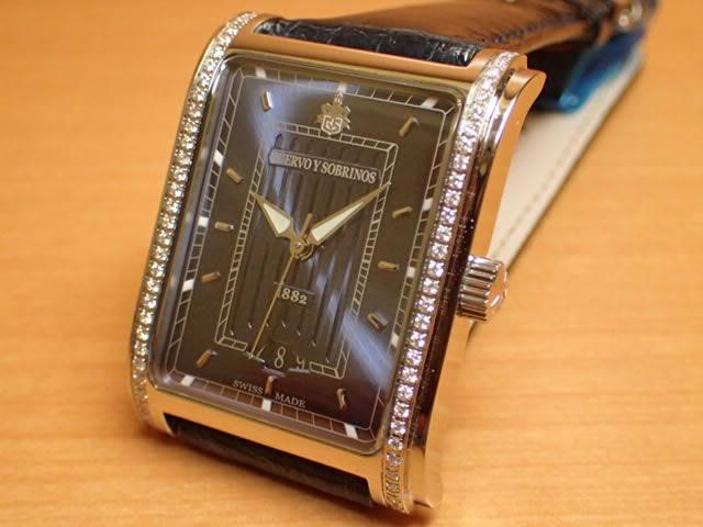 クエルボイソブリノス 腕時計 プロミネンテ クラシコ ダイヤモンド入りベゼル ケース 正規商品 Ref.1015-1BS-S1 【クエルボ・イ・ソブリノス】 無金利分割も可能です。