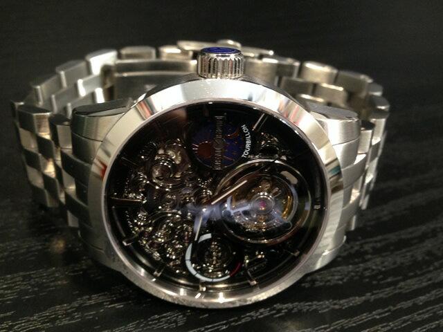 メモリジン トゥールビヨン MEMORIGIN Navigator Imperial ナビゲーター インペリアル マニュファクチュール トゥールビヨン メタルブレスレットつき MO1006BKBKBRB 腕時計 優美堂は分割払いもできます!