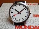 モンディーン 腕時計 クラシック ピュア 40mm メンズ ホワイトダ...