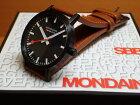 モンディーン腕時計クラシックピュア40mmメンズブラックダイアルブラウンレザーA660.30360.64SBG