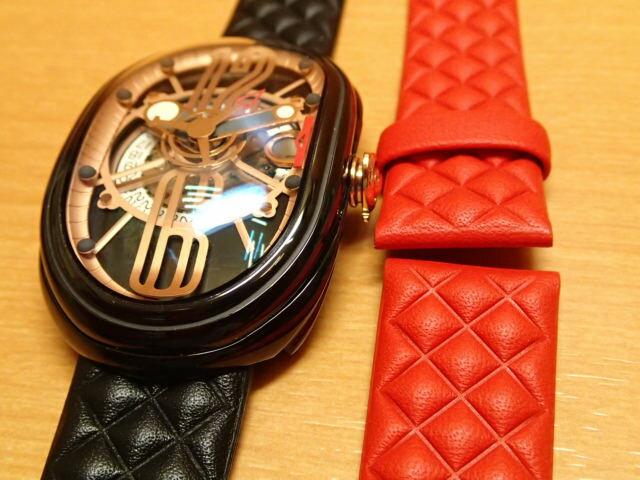 グリモルディ腕時計 G.T.O. 交換用バンドつき 腕時計 メンズ GRIMOLDI Gran Tipo Ovale BKSHBK612PK1962年~1964年にわずかに製造されたフェラーリ250GTOにオマージュした腕時計