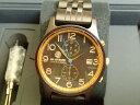 アバテルノ 腕時計 クロノコレクション CHRONO NITOR 9825055 Black Sandal Wood メンズ 正規輸入品 MADE IN ITALY