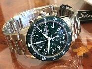 ジン腕時計世界500本限定Sinn103.SA.G.Mメタルブレスレット仕様伝統的パイロットクロノグラフ分割払いもOKです