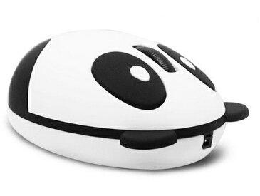 充電式 パンダ型ワイヤレスマウス 無線 電池交換不要 静音 可愛い ユニーク おしゃれ シャンシャン
