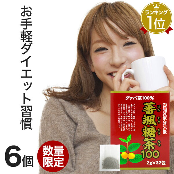 訳あり 蕃颯糖茶1002g×32包×6個セット賞味期限2022年7月以降|グァバグァバ茶グアバグアバ茶ガバ茶ガバちゃ茶葉ティー