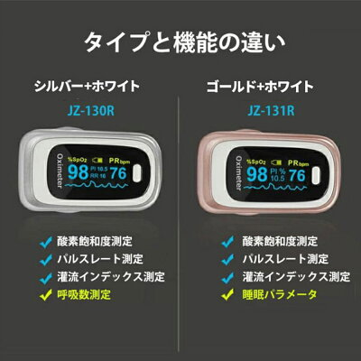 【2021年最新モデル】 パルスオキシメータ 指先型測定器 大画面液晶 見やすい 軽量 コンパクト 持ち運び便利 家庭用 安心 4色あり 画像1